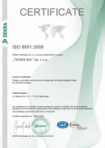 TEWES BIS ISO 9001 PL